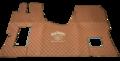 VOORRAAD VOORDEEL - Tunnelhoes met vloermatten in 1 deel DOORGESTIKT MERCEDES ACTROS MP 4 - BRUIN P4 met Borduring Labro Serie -